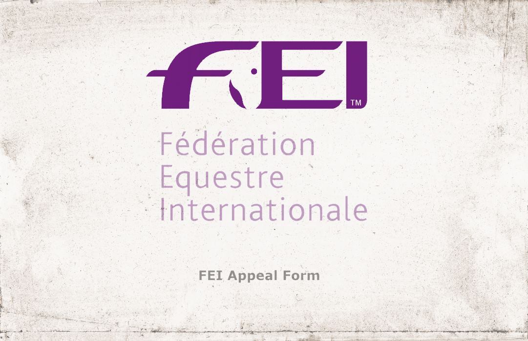2018 FEI GENERAL ASSEMBLY TO DISCUSS FLAWED  APPEAL PROCESS